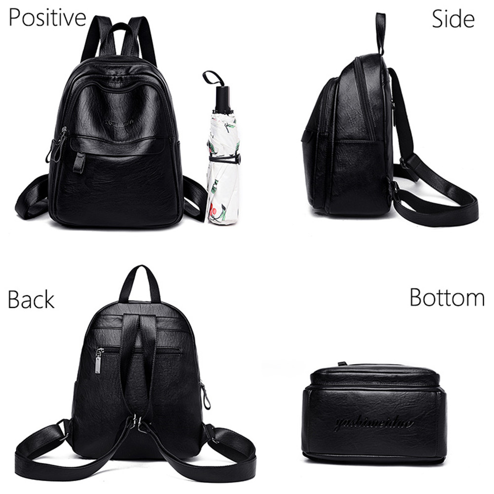 Mochilas mujer 2019 backpack female genuine leather Sac a Dos Femme mochila mujer cuero Women 39 s travel backpack for girls New in Backpacks from Luggage amp Bags