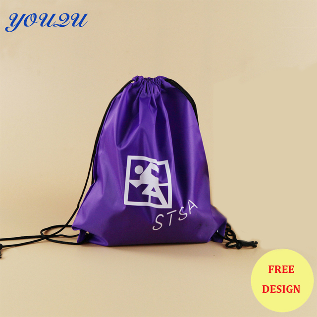 1f35825fe696 Kids drawstring backpack polyester drawstring backpack polyester tote bag  with custom logo printing lowest price free shipping