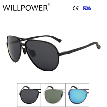 Men's 2017 Polarized Sunglasses Aluminum Magnesium Frame Car Driving Sun Glasses