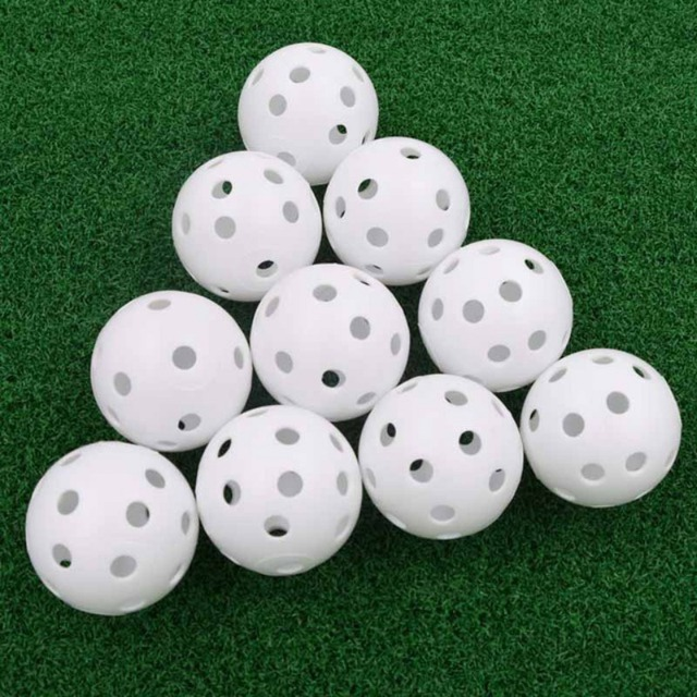 20 개/몫 41mm 골프 훈련 공 플라스틱 공기 흐름 구멍 골프 공 야외 골프 연습 공