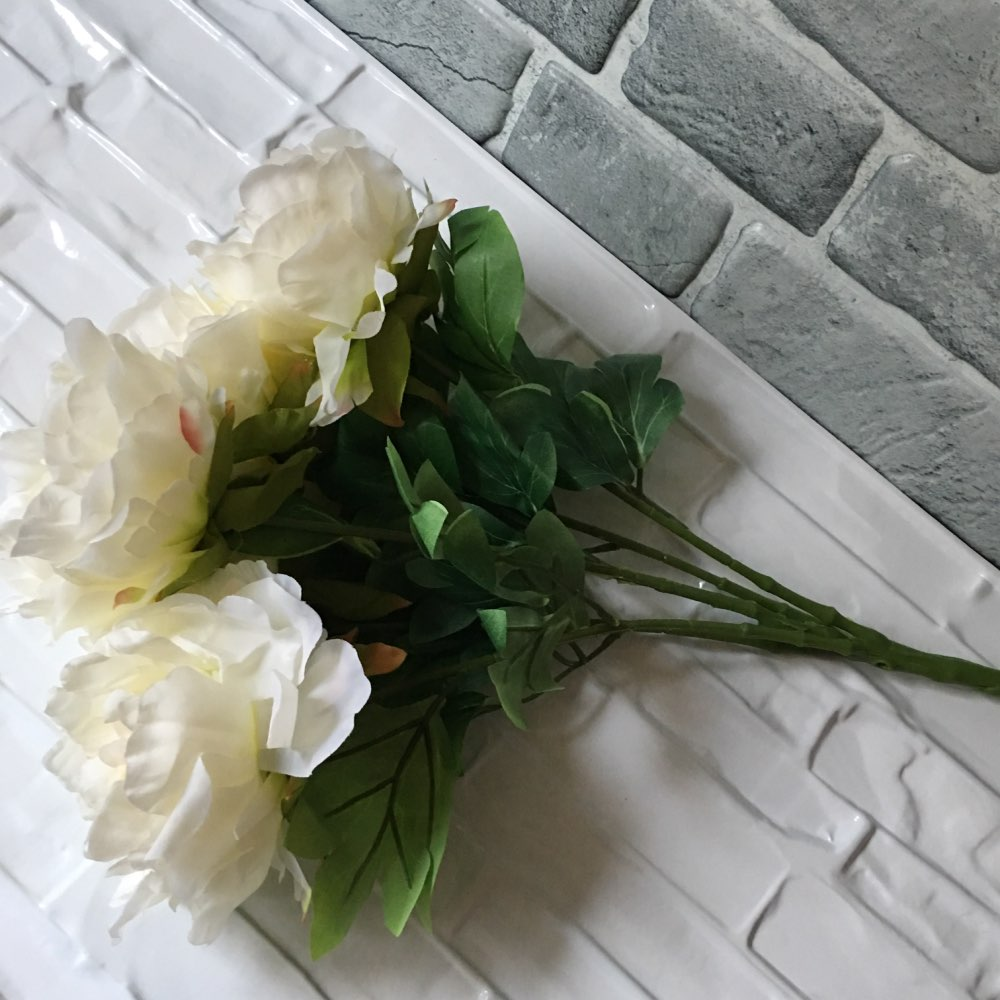 5 Köpfe bouquet pfingstrose blumenstrauß pfingstrose seidenblume - Partyartikel und Dekoration - Foto 6