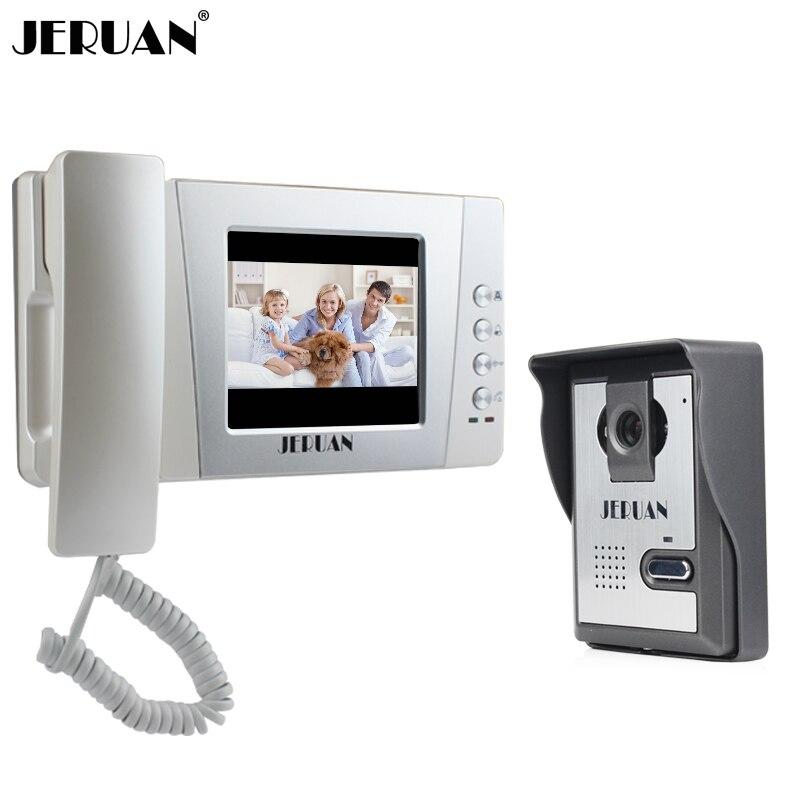 JERUAN Home Wired Cheap 4 3 inch LCD Color Video Door Phone DoorBell Intercom System IR
