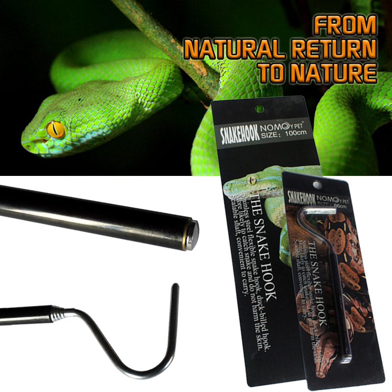 Long Handle Snake Hook Tongs for Catch Snakes 1 Pcs Catching Tools Trap Tong Stainless Steel Hook Tool Reptile Supplie Hobbies
