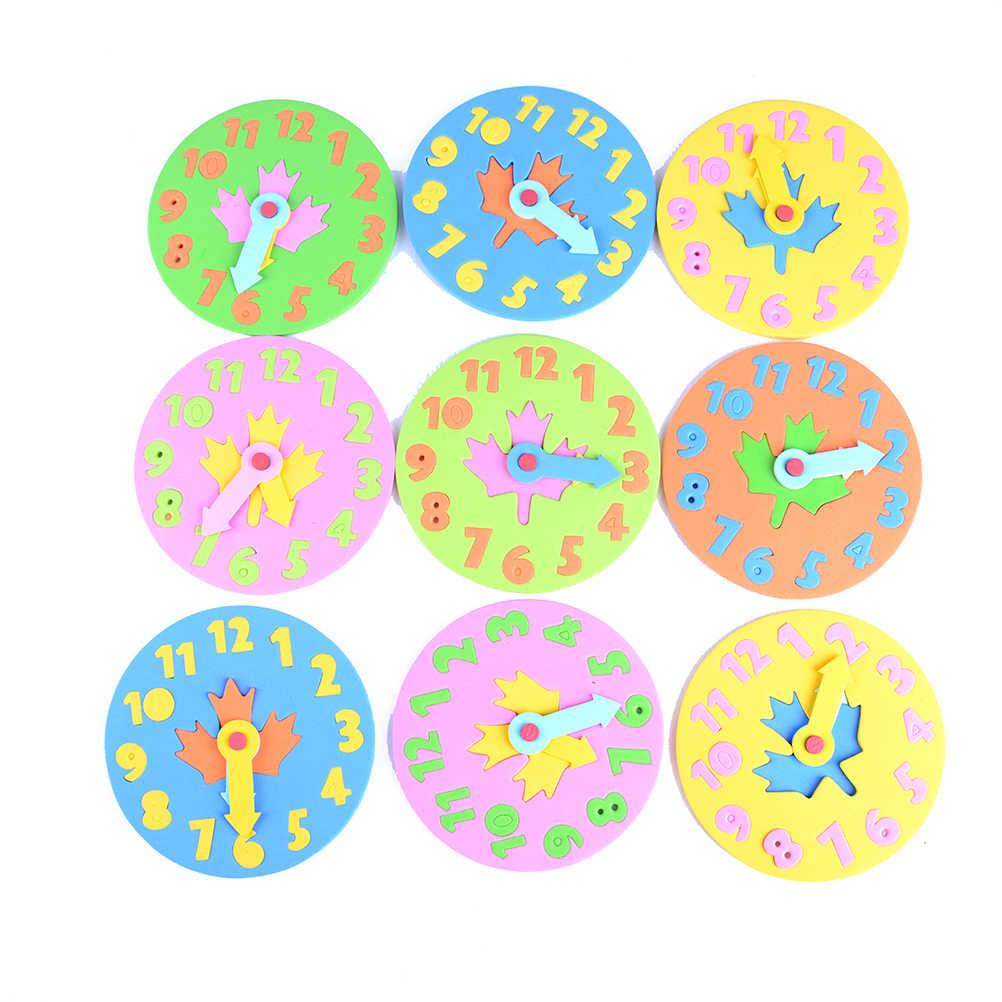 เด็ก DIY EVA นาฬิกาการเรียนรู้การศึกษาของเล่นสนุกจิ๊กซอว์เกมปริศนาเด็กของเล่นเด็ก 3-6 ปีเก่าขายร้อน