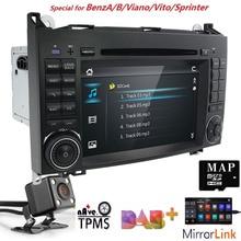 DVD dell'automobile per Mercedes Benz Sprinter Vito W169 W245 W469 W639 B200 GPS Radio DTV Stereo CANBUS AM/FM SWC BT USB Amplificatore DAB + CAM