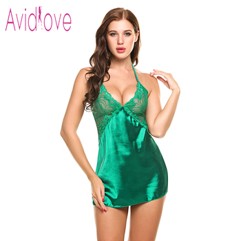 Sexy Nightgown Lingerie Fashion Nightdress Women 3
