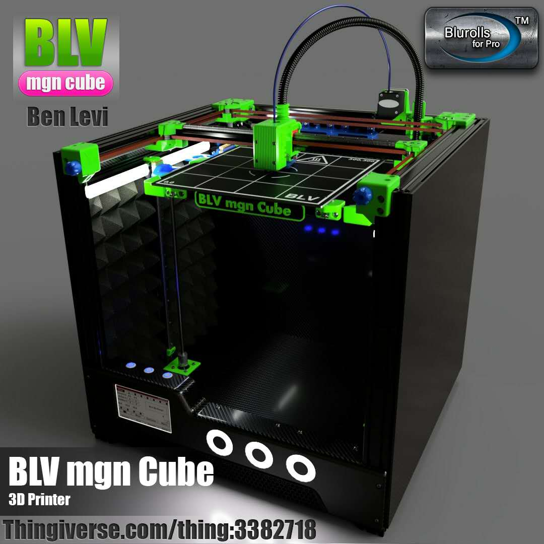 BLV MGN Cube 3d printer full kit, no including printed parts 365mm/465mm/665mm Z axis height