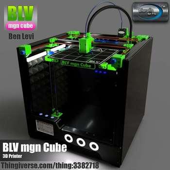 BLV MGN Cubo 3d impressora de kit completo, não incluindo peças impressas 365mm/465mm/665mm altura do eixo Z