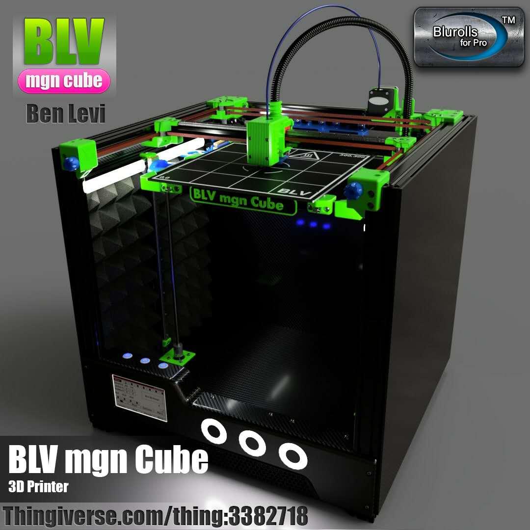 Jogo completo da impressora do cubo 3d de blv mgn, não incluindo as peças impressas 365mm/465mm/665mm da altura da linha central de z blv 3d