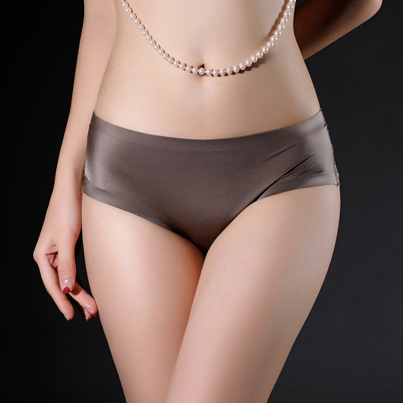 Brand Ladies Underwear Woman   Panties   Sexy Lace   Panty   Transparent Low-Rise Cotton Briefs Intimates New Hot Sale