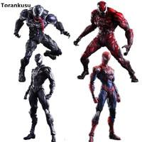 Spiderman Action Figures Play Arts Kai Venom 250mm PVC Anime Spiderman Toy Collection Model Figurine Venom Play Arts Kai