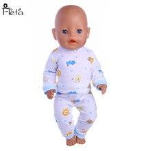 """Fleta חדש לבן בתבנית חיה בתבנית התחתונה מתאים 43cm Zapf נולד התינוק או 18 """"ילדה אמריקאית בובה אביזרים b88"""