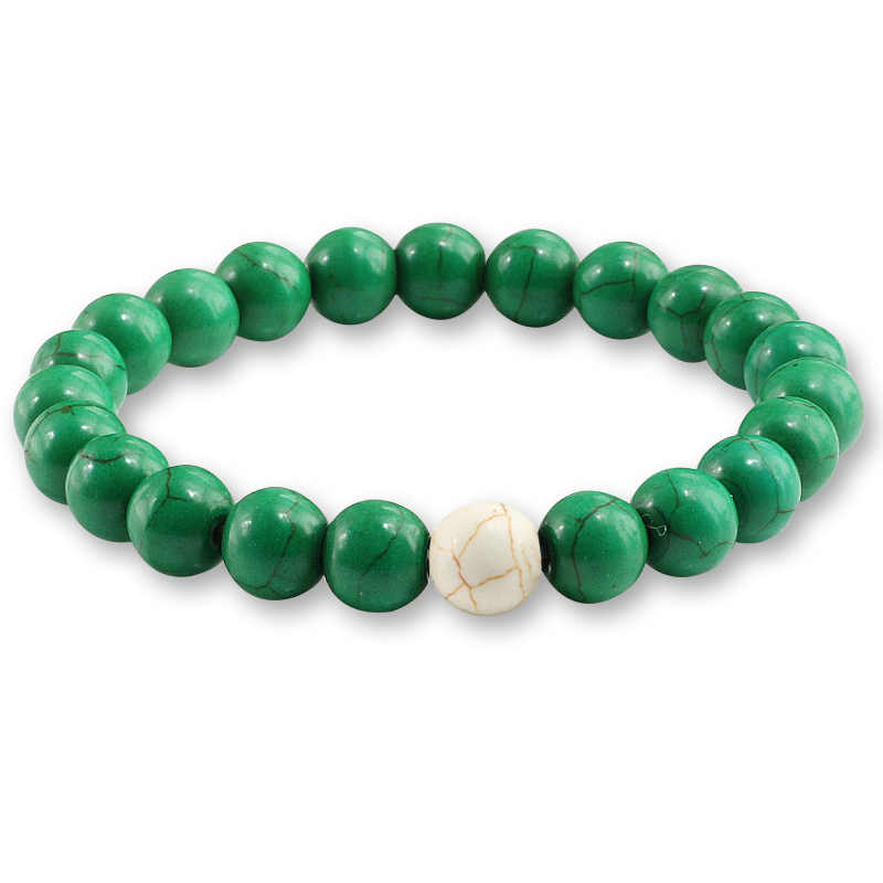 Mode Schmuck geschenk Charme Perlen Elastische Armbänder Armreifen Frauen Natürliche Stein Blau Rot Grün Perlen männer Strang Armband Geschenk