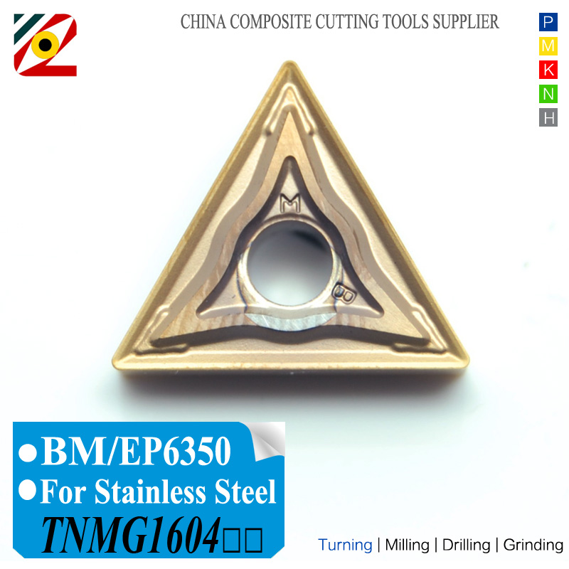 EDGEV CNC Carbide Inserts TNMG160404 TNMG160408 MA EP6350 TNMG331 TNMG332 Tungsten Alloy Blade TNMG 160408 For Stainless Steel