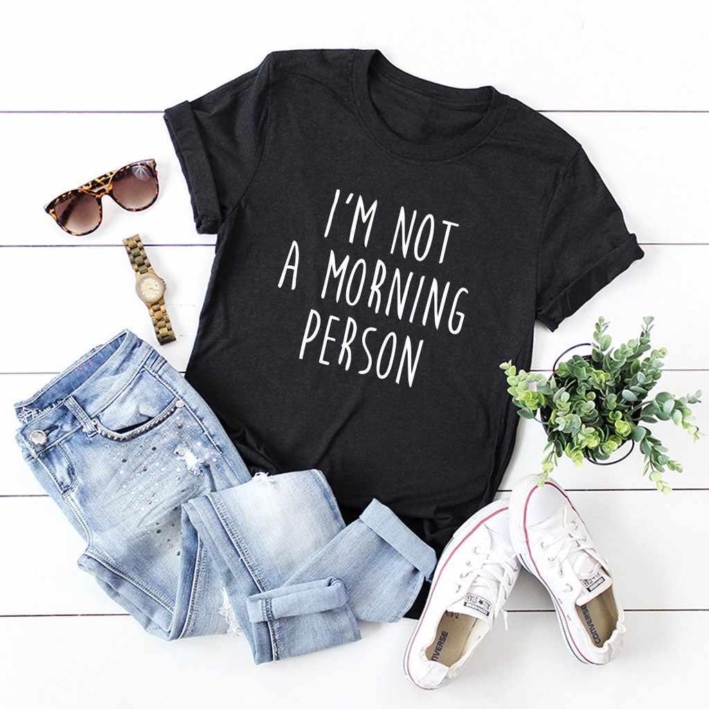 """Feitong Harajuku Vintage tshirt kobiety bawełna lato koszulki Verano Mujer 2019 moda krótki rękaw list luźne z dekoltem w kształcie litery"""""""