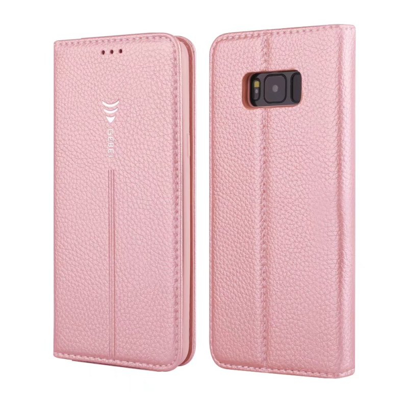 For Samsung S8 Leather Case Magnetic Flip Wallet Cover for Samsung Galaxy S8 Plus with Card Slot Mobile Phone Bag Stand Cover