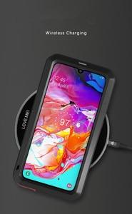 Image 5 - LOVE MEI étui pour Samsung Galaxy A70 en métal puissant étui étanche en aluminium housse antichoc pour Samsung A70 Gorilla glass A 70