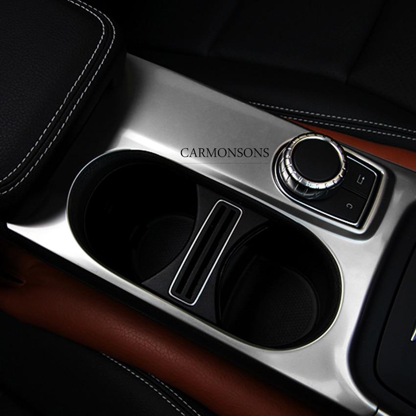 Carmonsons Console Do Carro Suporte de Copo de Água Tampa da Guarnição Acessórios Etiqueta para Mercedes Benz Uma ABL CLA Classe W176 X156 C117