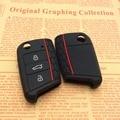 Silicone car Key Case Bag Cover For Volkswagen Vw Golf 7 Mk7 Skoda Octavia A7 Seat Leon Ibiza Portect Car Accessories
