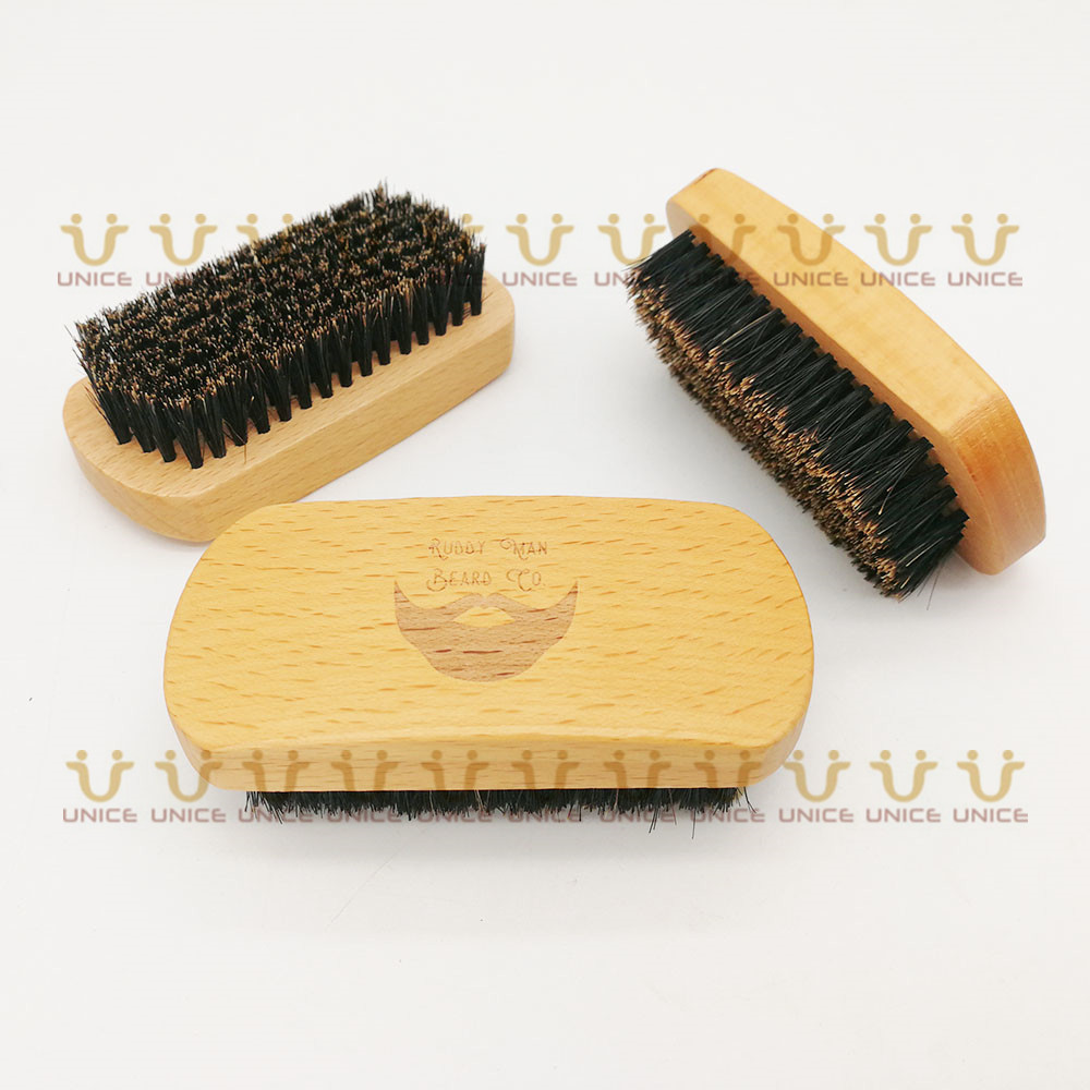 Купить с кэшбэком MOQ 50pcs Men Beard Care Set in Gift Window Box Custom LOGO Fine & Coarse Teeth Wood Combs Boar Bristle Beard Brush & Scissors