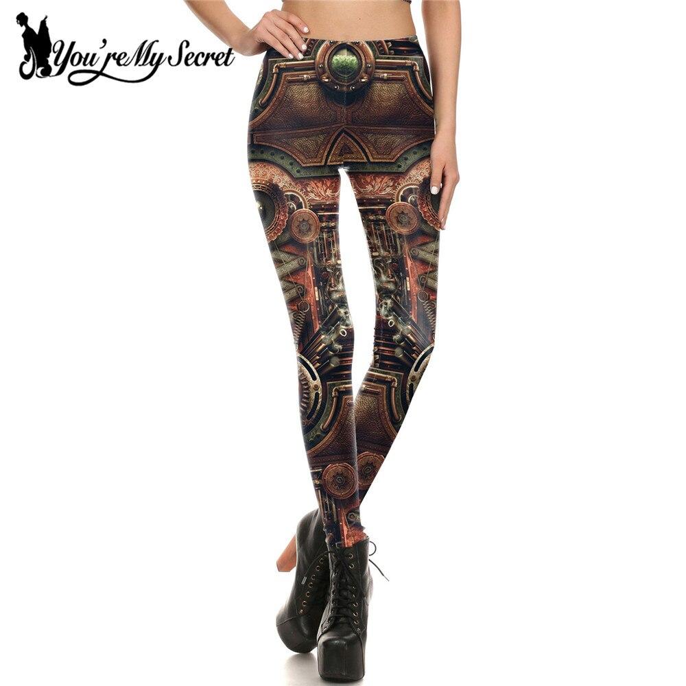 [You're My Secret] Fashion   Leggings   Women Steampunk Gothic Comic Cosplay leggin Women Mechanical Gear 3d Print Wholesalers Pant