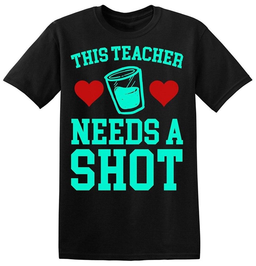 2018 новый летний Для мужчин Лидер продаж Мода этот учитель нужен текилу Для мужчин t-shirtmale предварительно хлопок Костюмы 100% хлопок