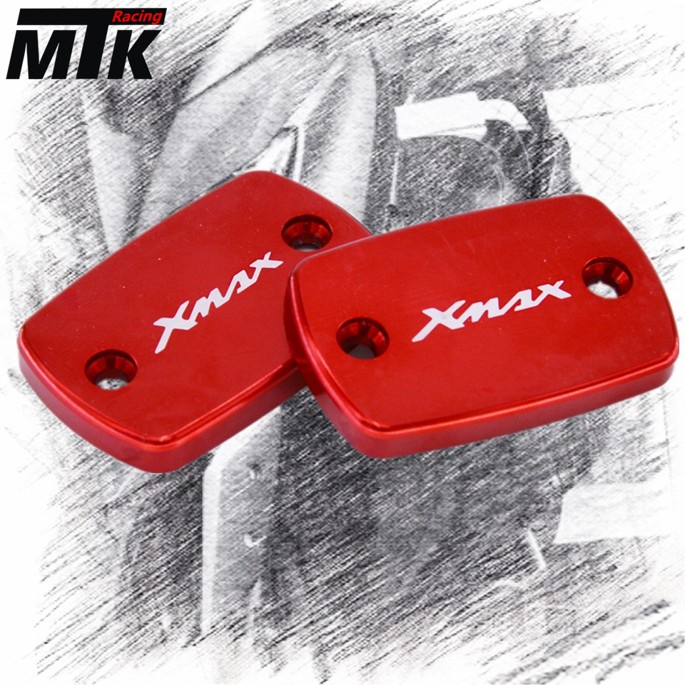 MTKRACING Free Shipping For YAMAHA XMAX 300 2017 2018 Motorcycle Accessories Motorbike Brake Fluid Tank Cap Cover XMAX LOGO bysprint ney motorcycle accessories motorbike brake fluid tank cap cover for kawasaki z900 z 900 z900 2017 free shipping