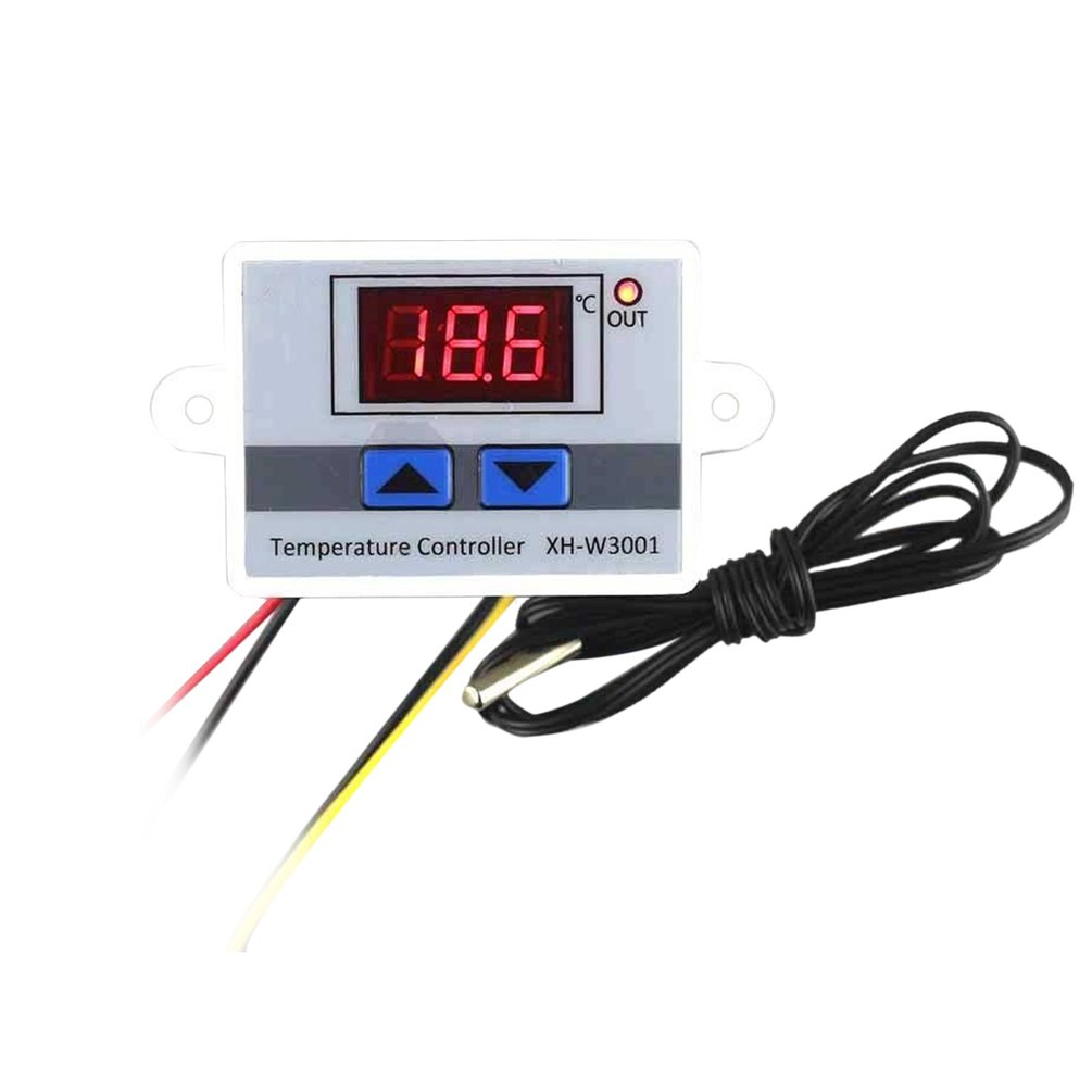 12v 24v 220v Digital Led Temperature Controller Thermostat Control Switch Waterproof Probe Wire Connect High Sensitivity Sensor