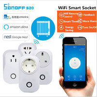 Hot Sonoff S20 Smart Home Charging Adapter Wireless Smart Switch WIFI Remote Controller Power Socket By