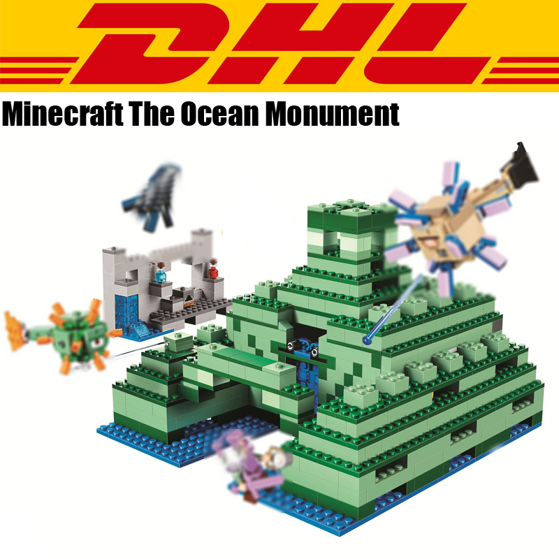 2018 New 1134Pcs Minecrafted The Ocean Monument Cave Model Building Kits Blocks Bricks Toy For Children Gift Compatible 21136 new bela 10530 ninjagoes toy building blocks phantom ninja chaos samurai cave 1307pcs 70596 06039 gift boy set