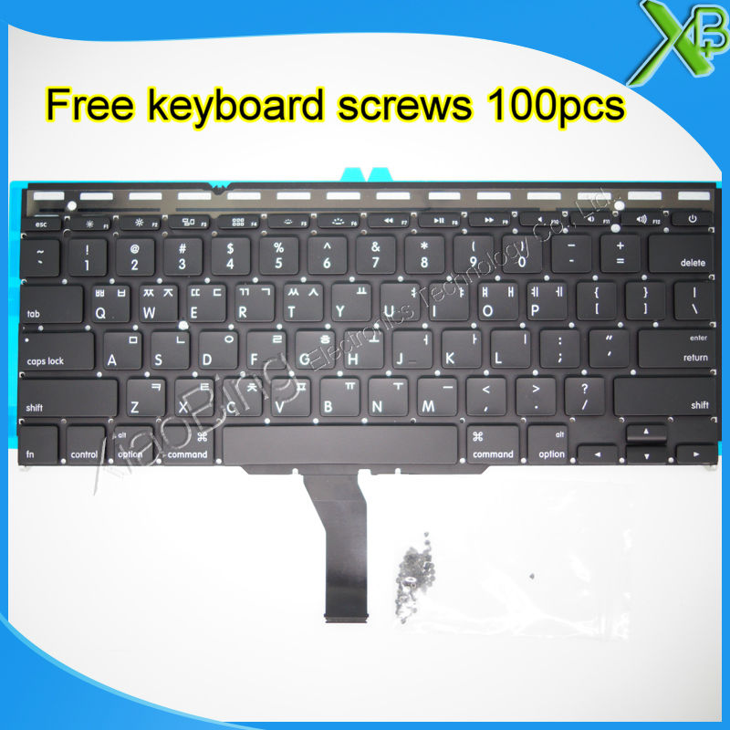 "Brand New Korean keyboard+Backlight Backlit+100pcs keyboard screws For MacBook Air 11.6"" A1370"