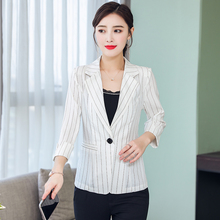 b New 2019 Formal Suits for Women Fashion Designer  Female Long Sleeve Jacket Slim Overcoat Feminino