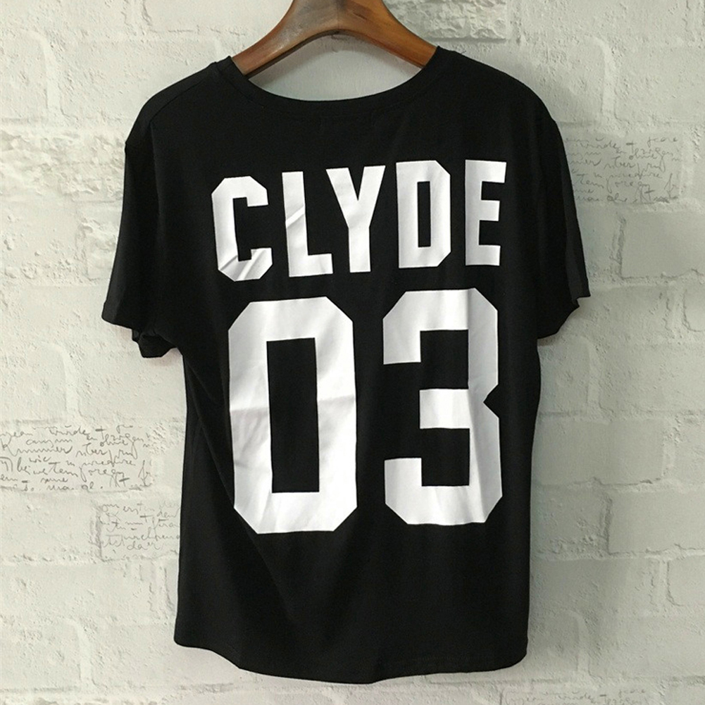 For r Couple Tops BONNIE CLYDE 03 Letter Print T shirt for ... on