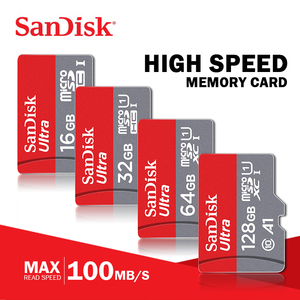 Image 1 - 100% Original Sandisk Micro SD card Class10 TF card16gb 32gb 64gb128gb 80Mb/s memory card 200GB for huawei phone and for tablet