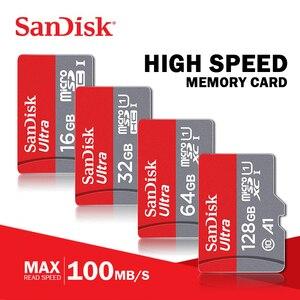 Image 1 - 100% oryginalna karta micro sd Sandisk Class10 TF card16gb 32gb 64 gb128gb 80 Mb/s karta pamięci 200GB dla telefonu huawei i tabletu
