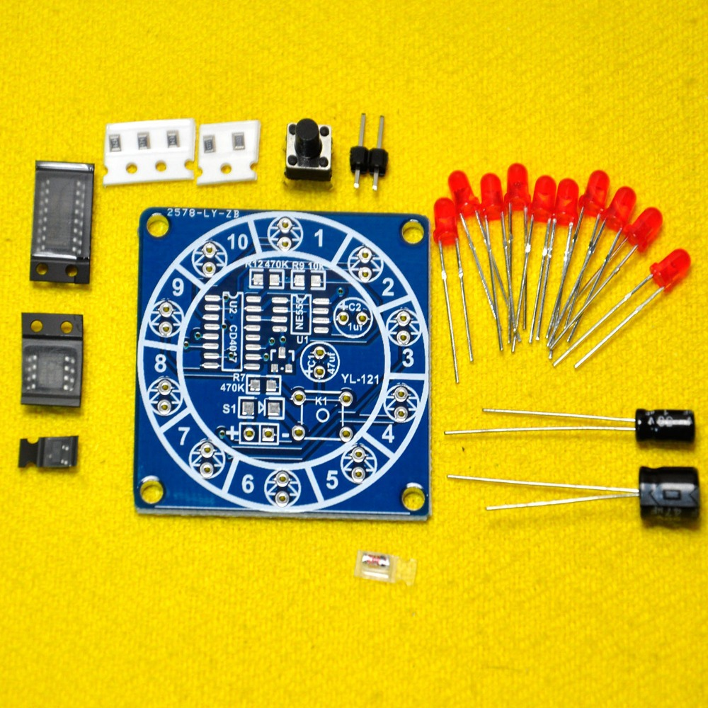 Electronic Lucky Rotary Suite Wheel Of Fortune Diy Kit Dice Circuit In Other Components From Supplies On