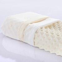 Tajlandia ortopedyczne comfort naturalnego lateksu poduszki do masażu szyi poduszki sypialnia spania poduszki jeden kawałek bezpłatna wysyłka