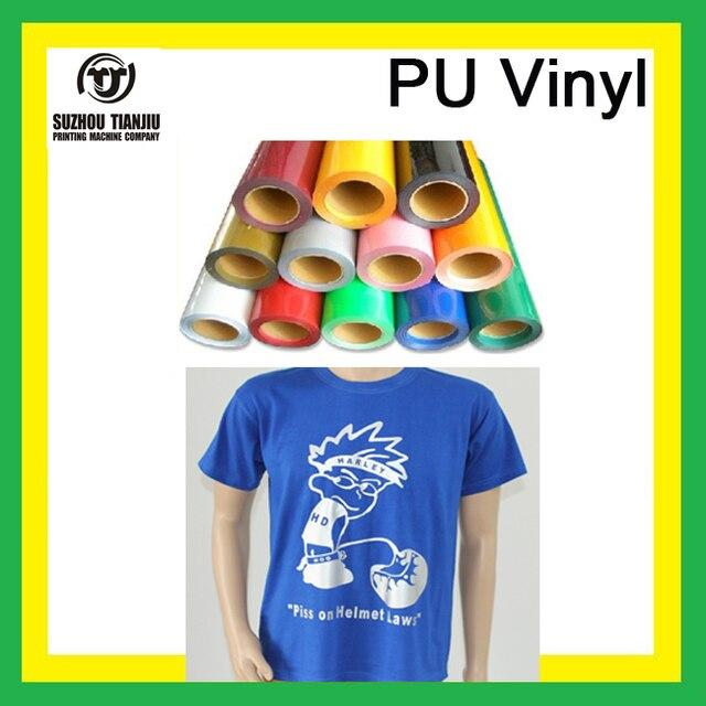 "TJ t-shirts vinyl,pu vinyl for clothing Width20""x4 meters hot sales"