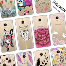 BIGCHEN Soft TPU Cases For Meizu M5C M3S M5S M3 M5 M6 Note Cool Design Silicone Phone Cases For Meizu U10 U20 Pro 6 Back Cover