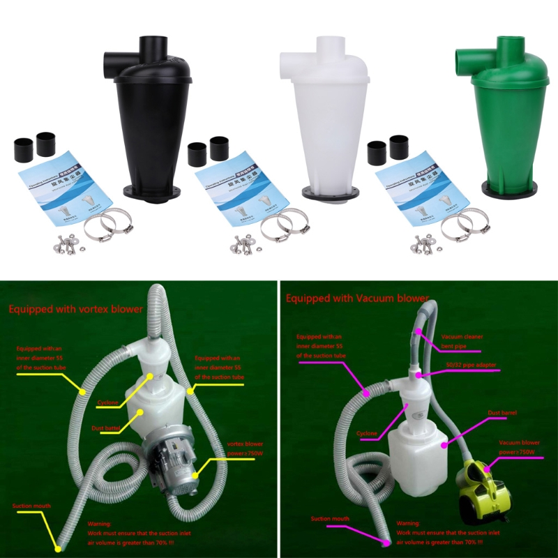 SKYMEN Cyclone Dust Collector Filter Turbocharged Cyclone With Flange Base Separator Vacuum Cleaner Household Cleaning Appliance