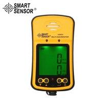 Smart Sensor газоанализатор H2S CO 2 в 1 токсичных газ Угарный газ течеискатель Угарный газ сероводород тестер