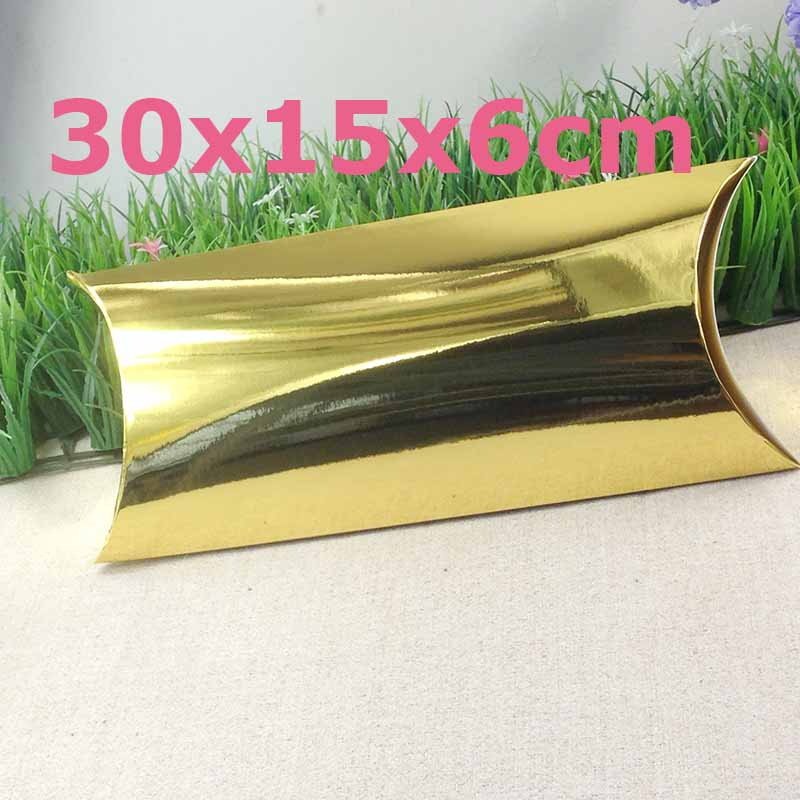 Wholesale Free Shipping Golden Hair Extension Box Golden Bigger Size