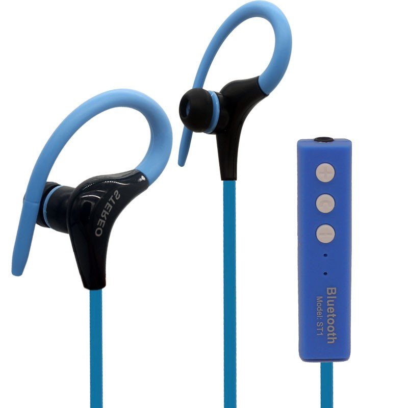 sports earphones running waterproof sweatproof ipx5 with mic in ear earhook music headset mobile. Black Bedroom Furniture Sets. Home Design Ideas
