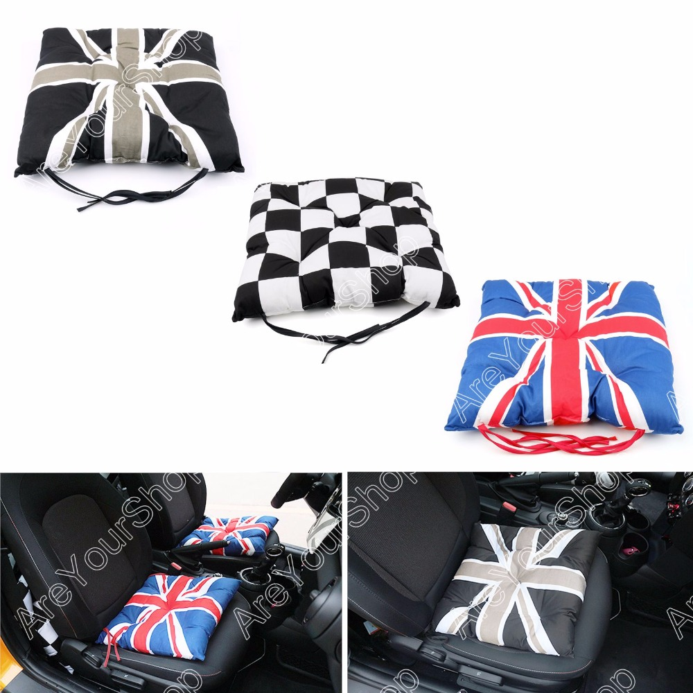 Union jack checkered car seat cushion cover pad mat for bmw mini cooper for vw fit