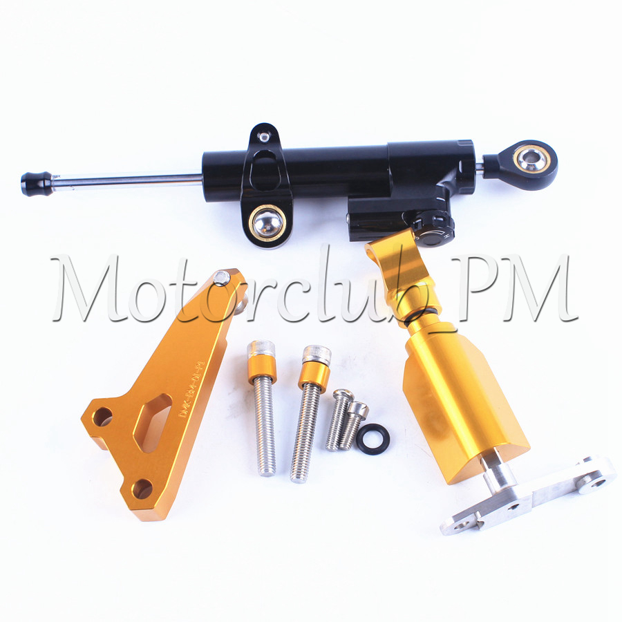 For BMW S1000RR Steering Damper Stabilizer With Mounting Bracket Kit 2014 2015 Gold Motorcycle Accessories New for ktm 200 duke 2013 2014 390 duke 2014 2015 2016 motorcycle accessories steering damper stabilizer with mounting bracket kit