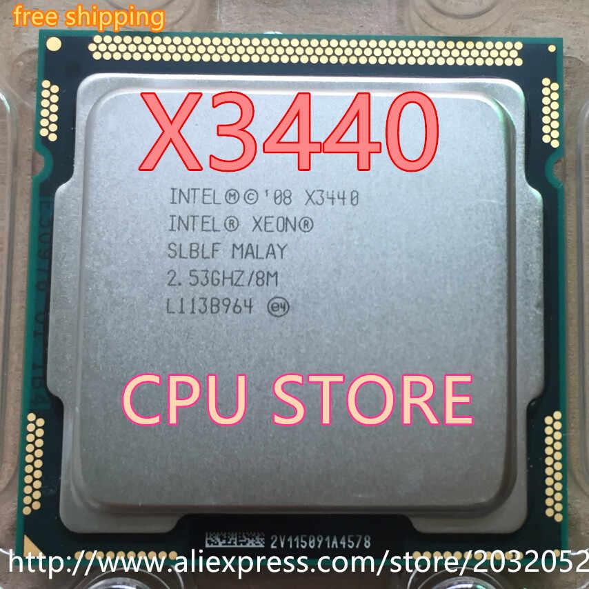 إنتل Xeon X3440 x3440 وحدة المعالجة المركزية ، 2.53GHz LGA1156 8MB رباعية النواة I5 650 i5 750 i5-760 (العمل 100% شحن مجاني) في الأوراق المالية