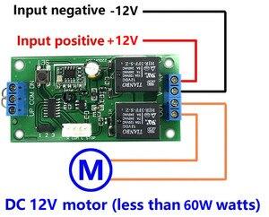 Image 2 - Беспроводной пульт дистанционного управления 433 МГц, радиочастотный передатчик, приемник, dc 9 в 12 В, моторный аккумулятор, усилитель вперед, назад, Рулевое управление