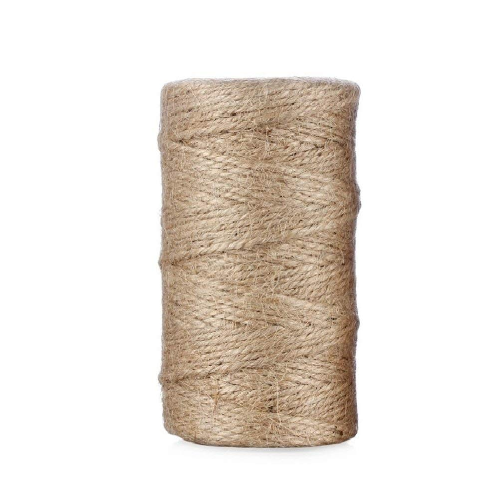 3 lag Naturhamp Twine 100m / roll Rustikk snor snor jute tau Wrap Craft Making Decor Tau