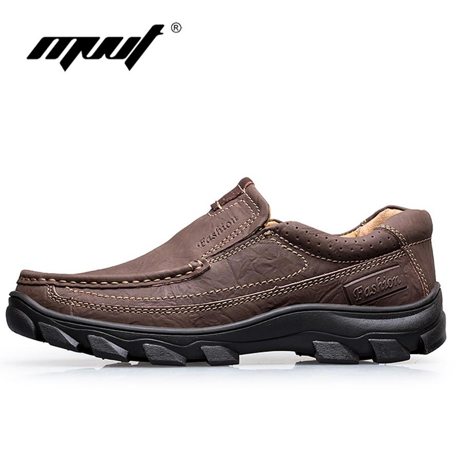 On À Up Main Cuir De L'usure Occasionnels Mvvt Green lace slip Classique lace Chaussures Slip Appartements En Green Hommes Résistant Brown Brown Automne Véritables ORCqw