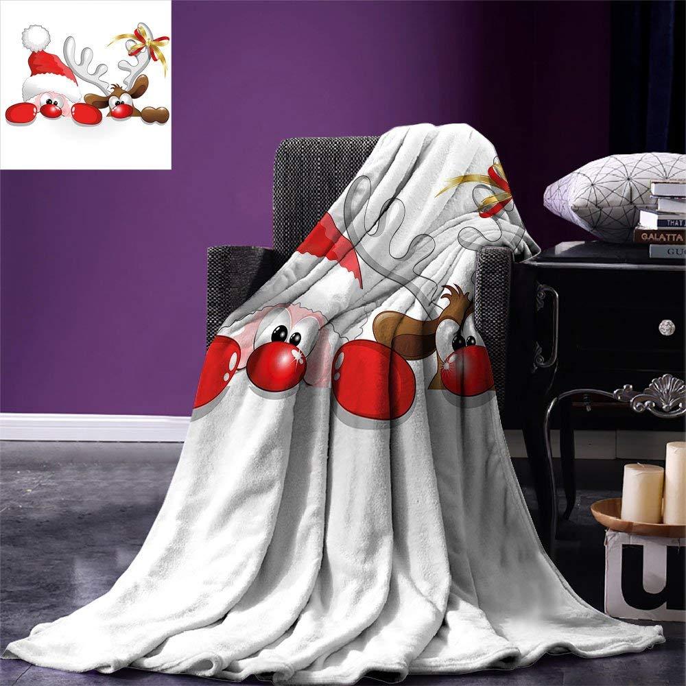 Christmas Throw Blanket Funny Christmas Santa Claus And